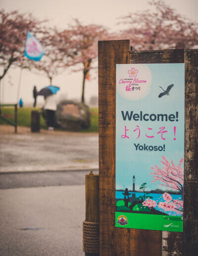 A welcome signboard at the festival